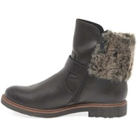 Shoes Girl Boots Marco Tozzi Dresden Girls Senior Zip Fur Biker Boots brown
