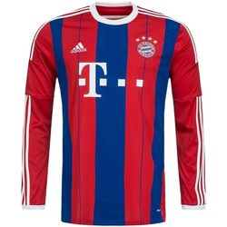 Clothing Men long-sleeved polo shirts adidas Originals Bayern Monachium H Jsy Blue-Red
