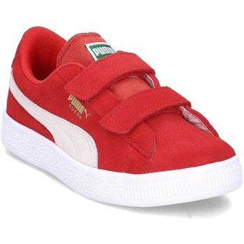 Shoes Children Low top trainers Puma Suede 2 Straps PS Red