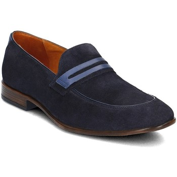 Shoes Men Loafers Gino Rossi Chiasso Navy blue
