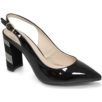 Shoes Women Heels Lunar Ladies Cher Slingback Shoe Black
