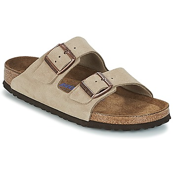 Shoes Women Mules Birkenstock ARIZONA SFB Taupe