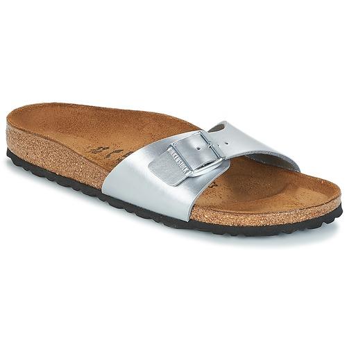 Shoes Women Mules Birkenstock MADRID Silver