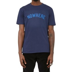 Clothing Men short-sleeved t-shirts The Idle Man Nowhere T-Shirt Navy Blue