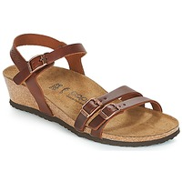 Shoes Women Sandals Papillio LANA Cognac