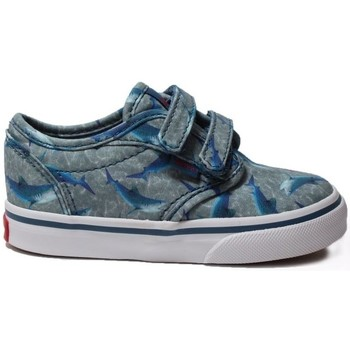 Shoes Children Low top trainers Vans TD Atwood V Toddler Sharks Blu Blue