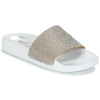 Shoes Women Mules Dune LAS VEGAS White / Silver