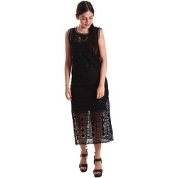 Clothing Women Long Dresses Liu Jo F17254T9887 Dress Women Black Black