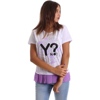 Clothing Women short-sleeved t-shirts Y Not? 17PEY049 T-shirt Women Violet Violet