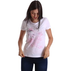 Clothing Women short-sleeved t-shirts Key Up 502SG 0001 T-shirt Women White White