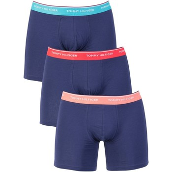 Clothing Men Trunks / Underwear Tommy Hilfiger Men's 3 Pack Trunks, Blue blue