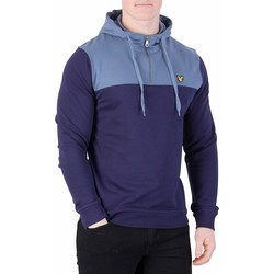 Clothing Men sweatpants Lyle & Scott Men's 1/4 Zip Hoodie, Blue blue