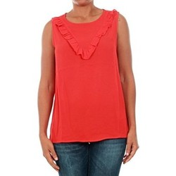 Clothing Women Tops / Sleeveless T-shirts Jacqueline De Yong TOP  JDYPINAR S/L FRILL TOP WVN ROJO
