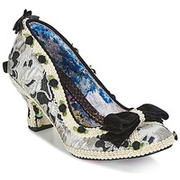 Shoes Women Heels Irregular Choice BISH BASH BOW Silver / Black