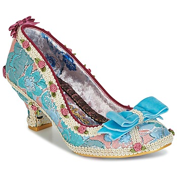 Shoes Women Heels Irregular Choice BISH BASH BOW Turquoise