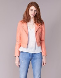 Clothing Women Leather jackets / Imitation leather Oakwood YOKO Coral