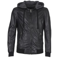 Clothing Men Leather jackets / Imitation leather Oakwood JIMMY Black