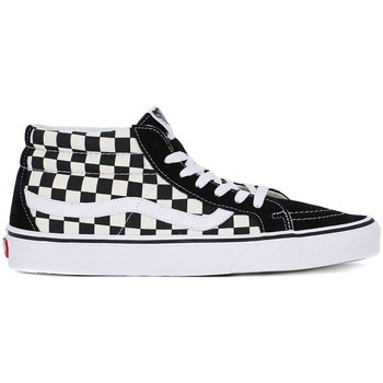 Shoes Men Hi top trainers Vans SK8 Mid Reissue White-Black