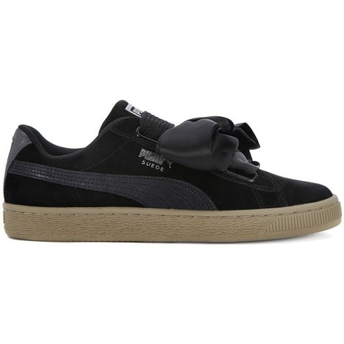 Shoes Women Low top trainers Puma Basket Heart Safari Black