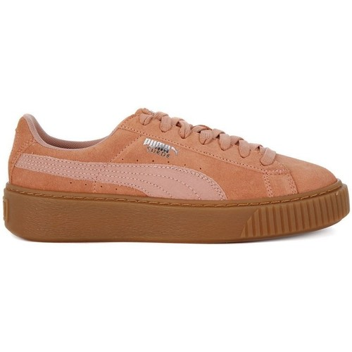 Shoes Women Low top trainers Puma Suede Platform Animal Honey