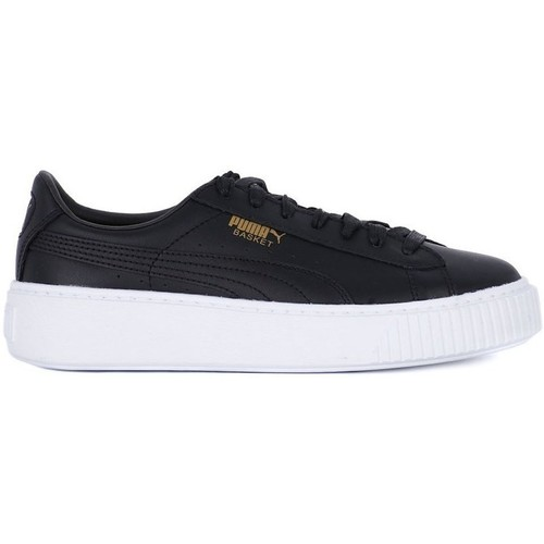 Shoes Women Shoes Puma Basket Platform Core Black