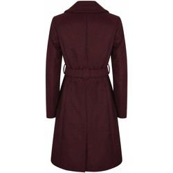 Clothing Women coats Anastasia Womens Burgandy Belted Wrap Winter Coat Red