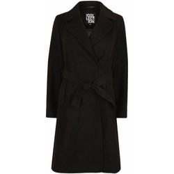 Clothing Women Trench coats Anastasia Womens Black Belted Wrap Winter Coat Black