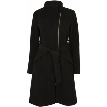 Clothing Women Parkas Anastasia Zip Belted Winter Coat Black