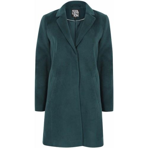 Clothing Women Coats Anastasia Anatasia Womens Teal Boyfriend Winter Coat Green