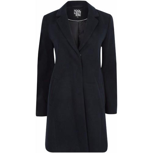 Clothing Women Parkas Anastasia Anatasia Womens NAVY Boyfriend Winter Coat Blue