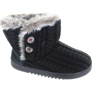 Shoes Women Mid boots Dearfoams Cable Knit Two Black