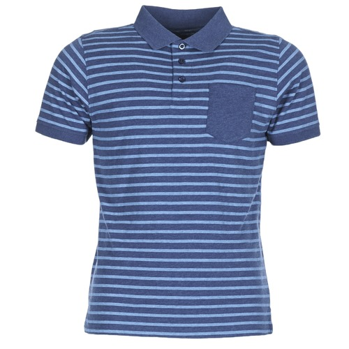 Clothing Men short-sleeved polo shirts Casual Attitude INUTIOLE Blue / White