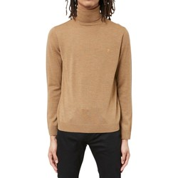 Clothing Men jumpers Farah Gosforth Merino Roll Neck Tan Other