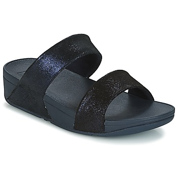 Shoes Women Mules FitFlop SHIMMY SUEDE SLIDE Blue