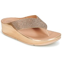 Shoes Women Flip flops FitFlop CRYSTALL Pink / Gold