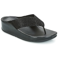 Shoes Women Flip flops FitFlop CRYSTALL  black