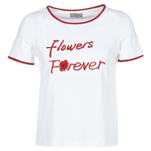 Clothing Women short-sleeved t-shirts Betty London INNATIMBI White / Red