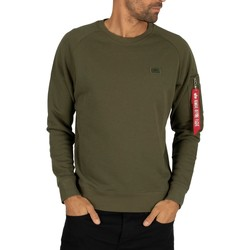 Clothing Men sweaters Alpha Men's X-Fit Sweatshirt, Green green