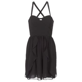 Clothing Women Short Dresses Naf Naf LENY R1 Black