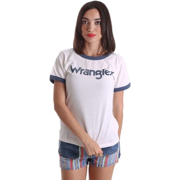 Clothing Women short-sleeved t-shirts Wrangler W7373G2MR T-shirt Women Blue Blue
