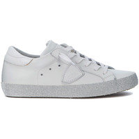 Shoes Low top trainers Philippe Model Paris Sneaker  Paris in pelle bianca e glitter White