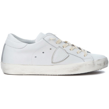 Shoes Low top trainers Philippe Model Paris Sneaker  Paris in pelle bianca White