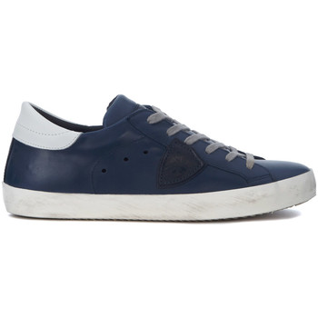 Shoes Low top trainers Philippe Model Paris Paris blue leather sneaker Blue