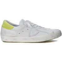 Shoes Low top trainers Philippe Model Paris PARIS WHITE AND FLUO YELLOW LEATHER SNEAKERS White