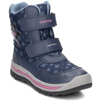 Shoes Children Snow boots Geox Junior Overland Girl Abx Navy blue