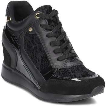 Shoes Women Hi top trainers Geox Nydame Black