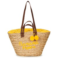 Bags Women Shopping Bags / Baskets Banana Moon LACELY WOODRAW Natural / Yellow
