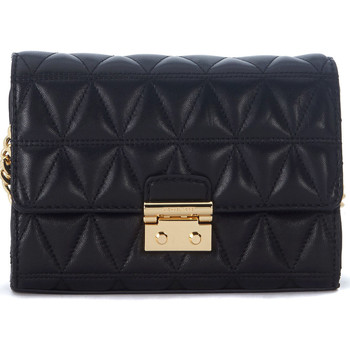 Bags Shoulder bags MICHAEL Michael Kors Clutch con tracolla  Ruby in pelle nera trapuntata Black