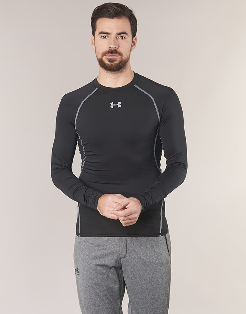 Clothing Men Long sleeved tee-shirts Under Armour LS COMPRESSION Black
