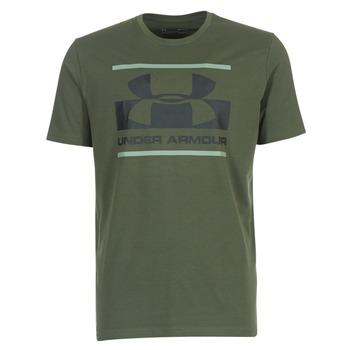 Clothing Men short-sleeved t-shirts Under Armour BLOCKED SPORTSTYLE LOGO Kaki